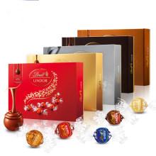 【特价秒杀】瑞士进口 瑞士莲LINDOR软心巧克力球14粒礼盒装 168g/ 特浓(黑色)